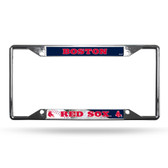 Boston Red Sox License Plate Frame Chrome EZ View