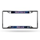 Buffalo Bills License Plate Frame Chrome EZ View