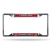 Carolina Hurricanes License Plate Frame Chrome EZ View