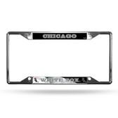 Chicago White Sox License Plate Frame Chrome EZ View