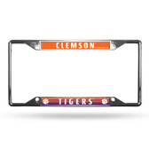 Clemson Tigers License Plate Frame Chrome EZ View
