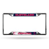 Cleveland Indians License Plate Frame Chrome EZ View