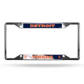 Detroit Tigers License Plate Frame Chrome EZ View