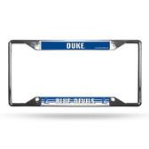 Duke Blue Devils License Plate Frame Chrome EZ View
