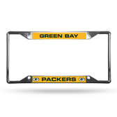Green Bay Packers License Plate Frame Chrome EZ View
