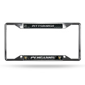 Pittsburgh Penguins License Plate Frame Chrome EZ View