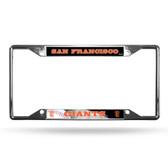 San Francisco Giants License Plate Frame Chrome EZ View