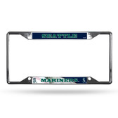 Seattle Mariners License Plate Frame Chrome EZ View