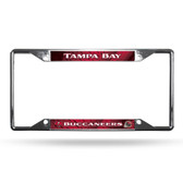 Tampa Bay Buccaneers License Plate Frame Chrome EZ View