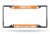 Tennessee Volunteers License Plate Frame Chrome EZ View