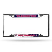 Washington Nationals License Plate Frame Chrome EZ View