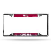 Washington State Cougars License Plate Frame Chrome EZ View