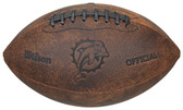 Miami Dolphins Football - Vintage Throwback - 9 Inches