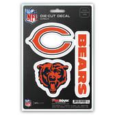 Chicago Bears Decal Die Cut Team 3 Pack