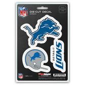 Detroit Lions Decal Die Cut Team 3 Pack