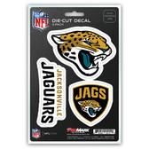 Jacksonville Jaguars Decal Die Cut Team 3 Pack