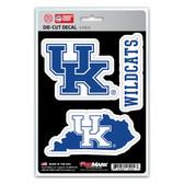 Kentucky Wildcats Decal Die Cut Team 3 Pack