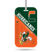 Miami Hurricanes Luggage Tag