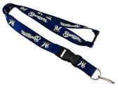 Milwaukee Brewers Lanyard - Blue