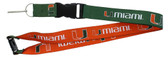 Miami Hurricanes Lanyard - Reversible