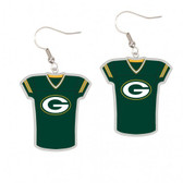 Green Bay Packers Earrings Jersey Style