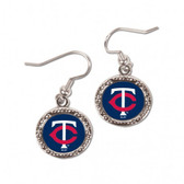 Minnesota Twins Earrings Round Design