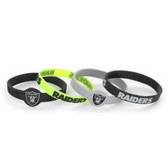 Oakland Raiders Bracelets - 4 Pack Silicone