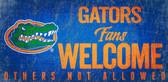 Florida Gators Wood Sign Fans Welcome 12x6