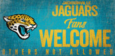 Jacksonville Jaguars Wood Sign Fans Welcome 12x6