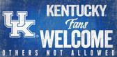 Kentucky Wildcats Wood Sign Fans Welcome 12x6