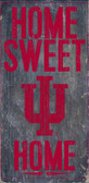 Indiana Hoosiers Wood Sign - Home Sweet Home 6x12