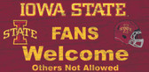Iowa State Cyclones Wood Sign - Fans Welcome 12x6