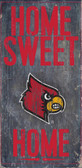Louisville Cardinals Wood Sign - Home Sweet Home 6x12