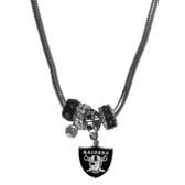 Oakland Raiders Necklace - Euro Bead