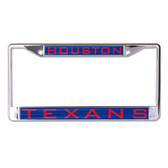 Houston Texans License Plate Frame - Inlaid