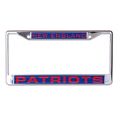 New England Patriots License Plate Frame - Inlaid