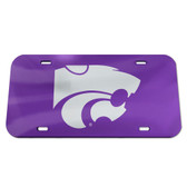 Kansas State Wildcats License Plate - Crystal Mirror - Logo