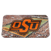 Oklahoma State Cowboys License Plate - Crystal Mirror - Stadium