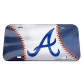 Atlanta Braves License Plate - Crystal Mirror - Baseball