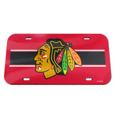 Chicago Blackhawks License Plate - Crystal Mirror