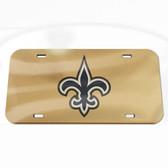 New Orleans Saints License Plate - Crystal Mirror - Logo
