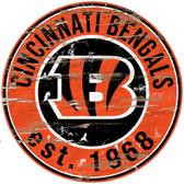"Cincinnati Bengals Wood Sign - 24"" Round"