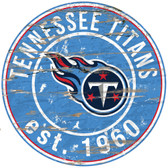 "Tennessee Titans Wood Sign - 24"" Round"