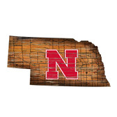 Nebraska Cornhuskers Wood Sign - State Wall Art