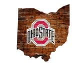 Ohio State Buckeyes Wood Sign - State Wall Art