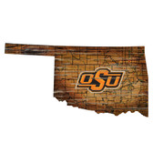 Oklahoma State Cowboys Wood Sign - State Wall Art