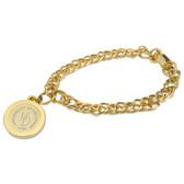 Delaware Blue Hens Gold Charm Bracelet