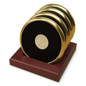Rice University Gold Tone Coaster Set of 4