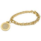 Rice University Gold Charm Bracelet