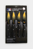 Pittsburgh Pirates Knife Set Steak 4 Pack